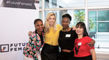 Image of women from Female First Business School graduating from UK-SA tech hub