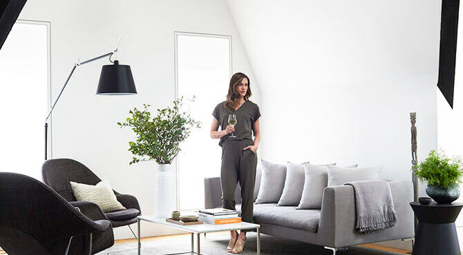lady standing in serviced apartment