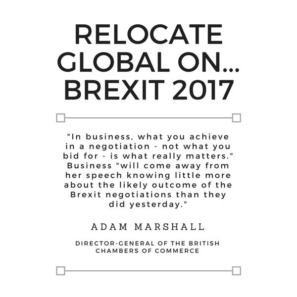 Adam Marshall, Director-general of the British Chambers of Commerce, on Prime Minister Theresa May's Brexit speech