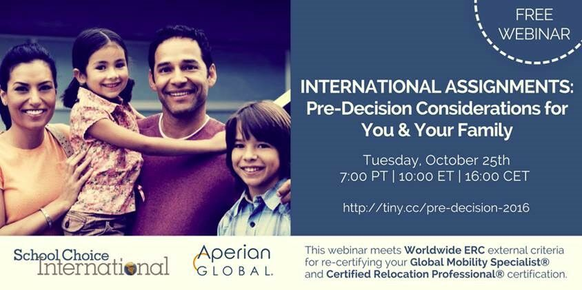 Aperian Global International Assignments: Pre-Decision Considerations for You and Your Family Webinar
