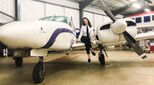 Trainee pilot Carrie Clark is trying to make the aviation industry more accessible to young people.