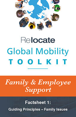 Global Mobility Toolkit: Factsheet: Family/Employee Support: Family Issues graphic