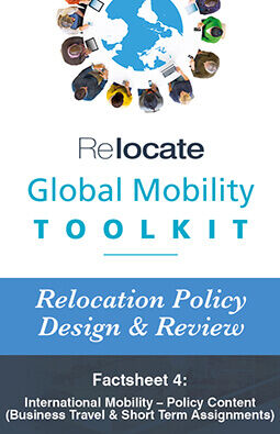 Relocate Global Mobility Toolkit Relocation Policy Design and Review Factsheet 4