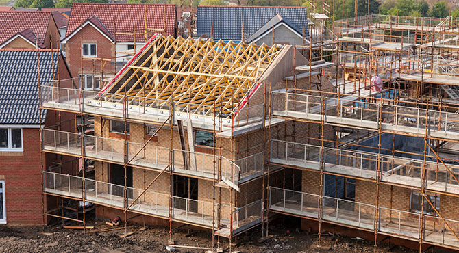 House building drives construction in the UK