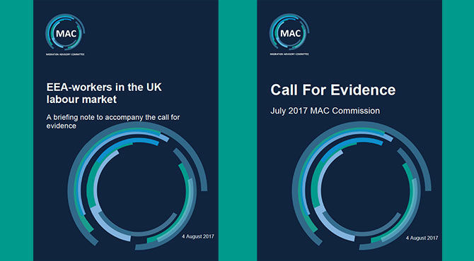 MAC Call For Evidence front covers