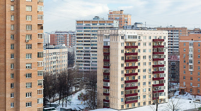 Apartments in Moscow, in Winter
