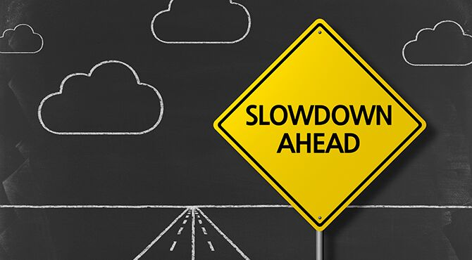 Economic slowdown ahead sign