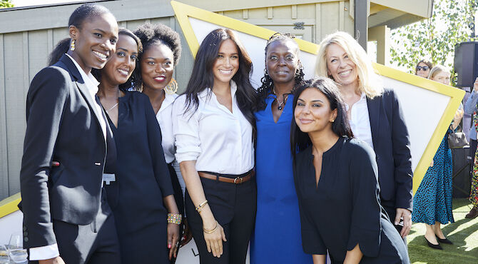 The Smart Set capsule collection is a collaboration between HRH The Duchess of Sussex, Meghan Markle and charity Smart Works