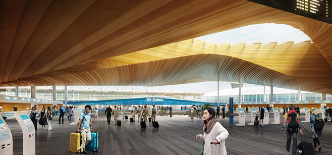 Helsinki Airport's new entrance: Finnish design at its best