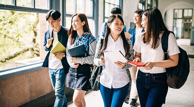 Asian university students