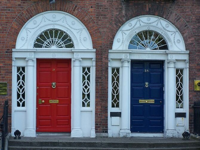 Image of front doors in Dublin