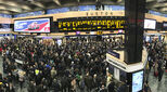 Commuters at Euston Station in London