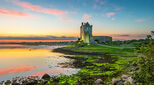 Dunguaire Castle on shores of Galway Bay Ireland