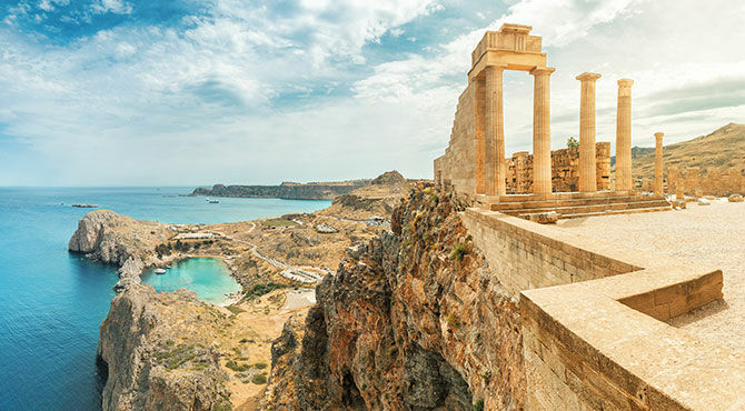 Acropolis of Lindos, Rhodes Island, Greece