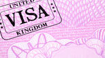 UK visa on a passport