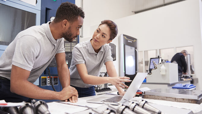 A shortage of skilled workers and delays in implementing the government's industrial strategy are causing major headaches for UK manufacturers. Photo: iStock/monkeybusinessimages