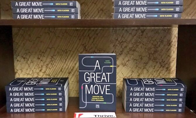 A Great Move book cover and display