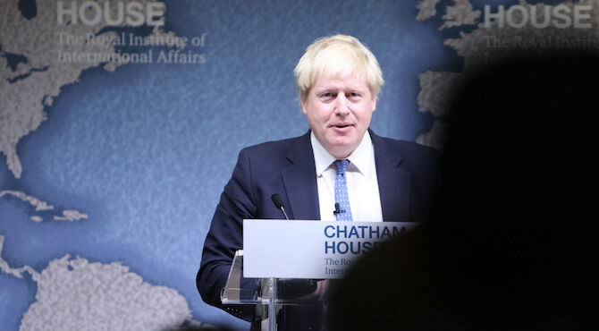 Foreign Secretary Boris Johnson speaking at Chatham House in London, 2 December 2016