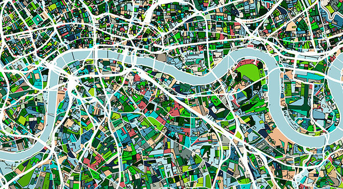 Map of London illustration