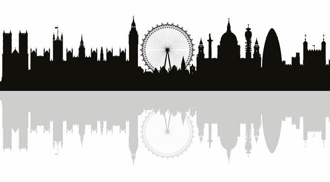 Iconic landmarks of London's skyline illustrate an article about FinTech and Brexit in London