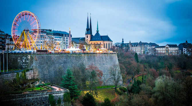 skyline of Luxembourg's capital to illustrate a Pro-Link GLOBAL immigration dispatch