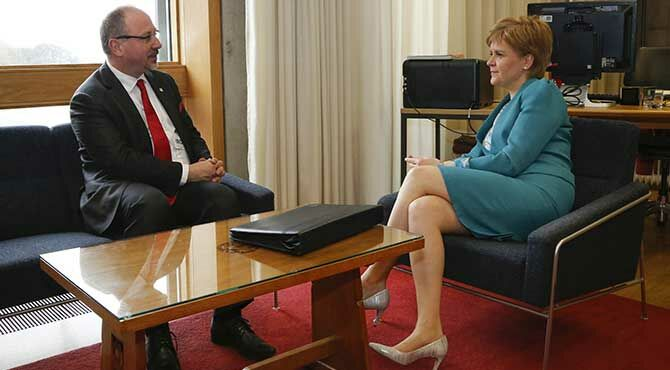 First Minister Nicola Sturgeon met with The Republic of Poland Ambassador to the United Kingdom Ambassador Arkady Rzegocki