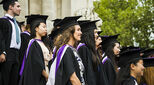 Graduates at Portsmouth University in the UK