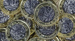 Photo of pound coins illustrating an article about the jobs with the highest salaries in the UK