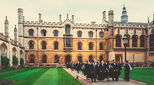 Student graduates at King's College Cambridge, UK