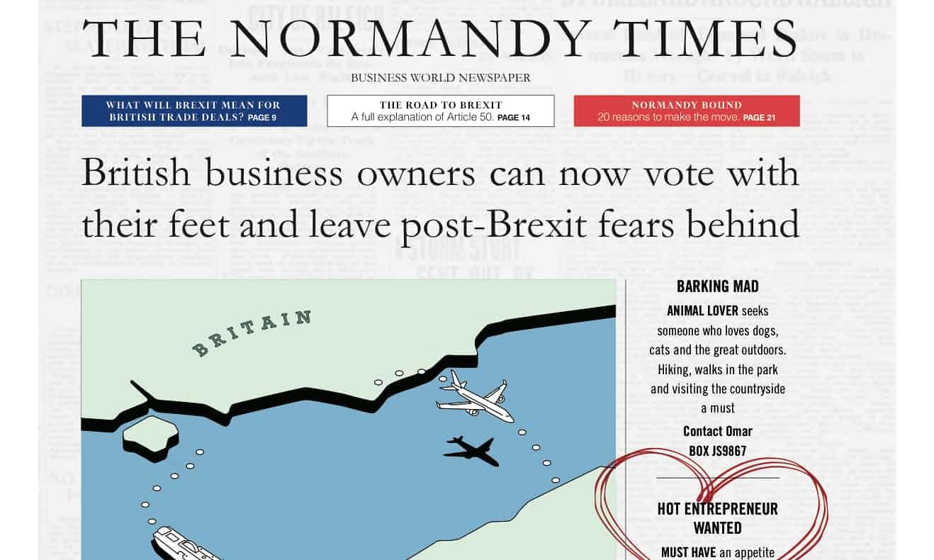 An advert from the fictitious news site The Normandy Times