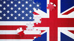US UK flags jigsaw puzzle format